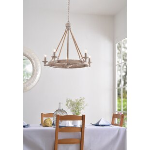 Breakwater Bay Kalyn 5-Light Wagon Wheel Chandelier