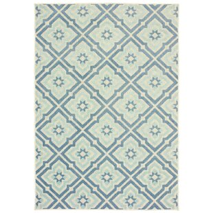 Fluellen Blue/Ivory Indoor/Outdoor Area Rug