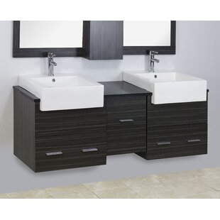 Coupon Ceramic 5 Wall Mount Bathroom Sink with Overflow By American Imaginations