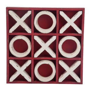 Schumaker Wood Large Spring Tic Tac Toe Game by Breakwater Bay