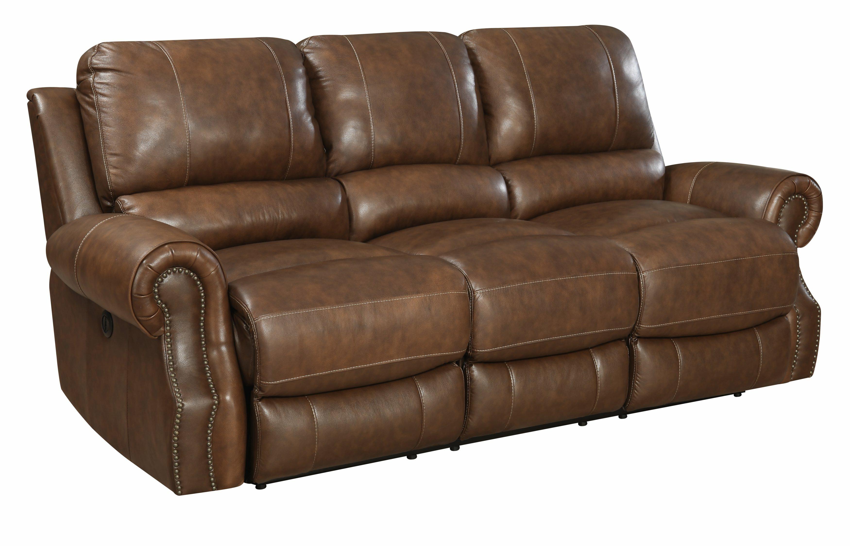 Red barrel studio crete leather reclining sofa reviews wayfair