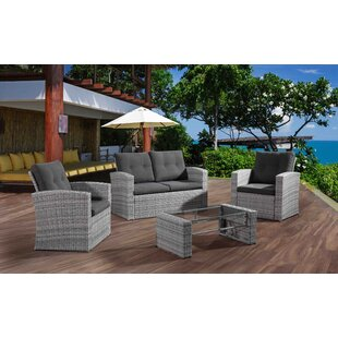 Gutshall 4 Piece Sofa Seating Group with Cushions