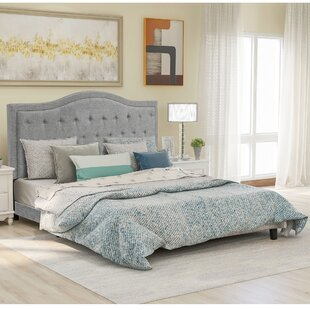 Classic Upholstered Bedframe With Headboard by Winston Porter