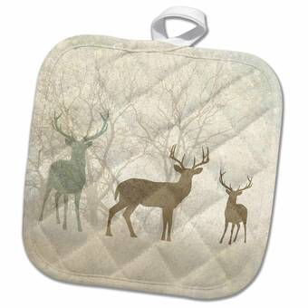 3drose Alerted Tail Deer Buck Potholder Wayfair Ca