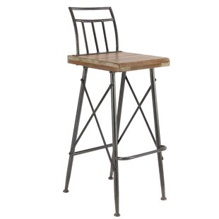 Brookview Modern Distressed Square Bar Stool