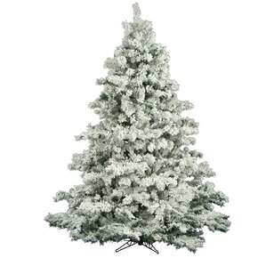 flocked alaskan 45 white artificial christmas tree unlit with stand - 4 Foot White Christmas Tree