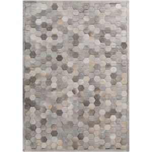 Penelope Hand Crafted Gray Area Rug