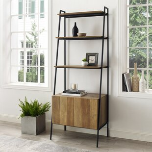 Caldwell Metal and Wood Ladder Bookcase