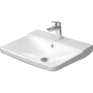 P3 Comforts Ceramic 22 Wall Mount Bathroom Sink with Overflow Duravit