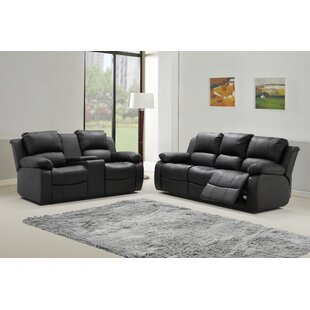 Viraj Reclining 2 Piece Leather Living Room Set by Red Barrel Studio