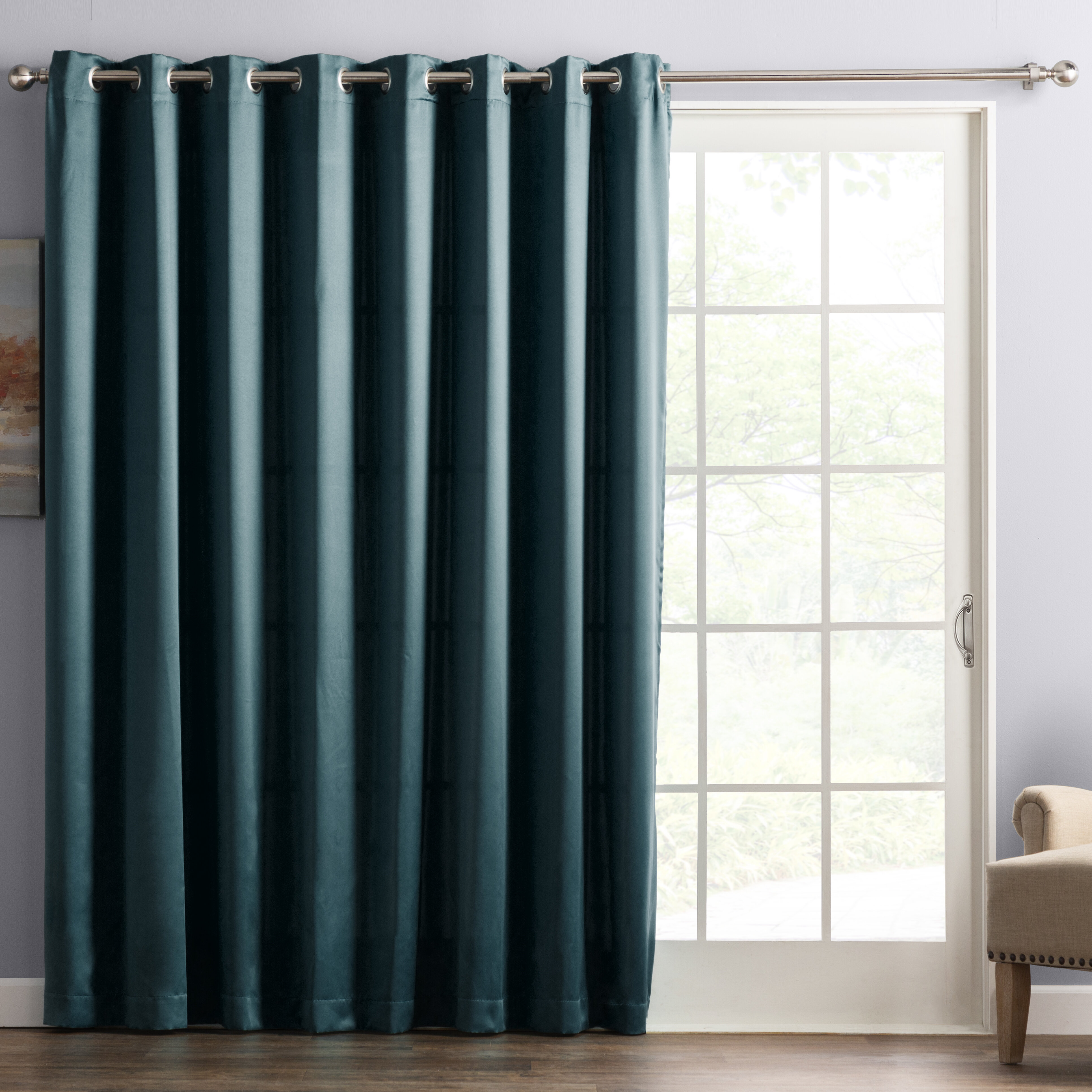 Trellis Accent Pure Cotton Window Panel Drape Decorative Grommet Curtain Set Of 2 Panels 48 X 84 Grey 48 X 84 Treewool Panels
