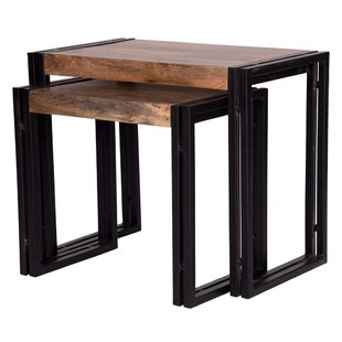 Williston Forge Holcombe 2 Piece Nesting Tables