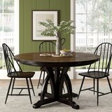 Tenley Round Solid Wood Dining Table by Gracie Oaks