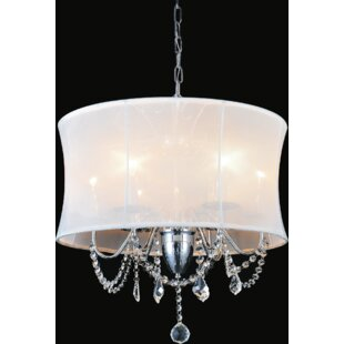 6-Light Shaded Chandelier by CWI Lighting