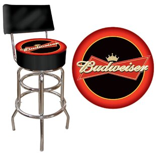 Budweiser 31 Swivel Bar Stool Trademark Global