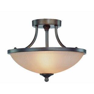 Andover Mills Kissinger 2-Light Semi Flush Mount