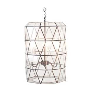 Faceted 3-Light Geometric Chandelier by Worlds Away