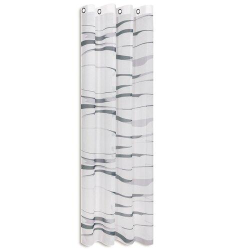 Gardine Mila mit Ösen (1 Stück)  halbtransparent | Heimtextilien > Gardinen und Vorhänge | Anthrazit | House Additions