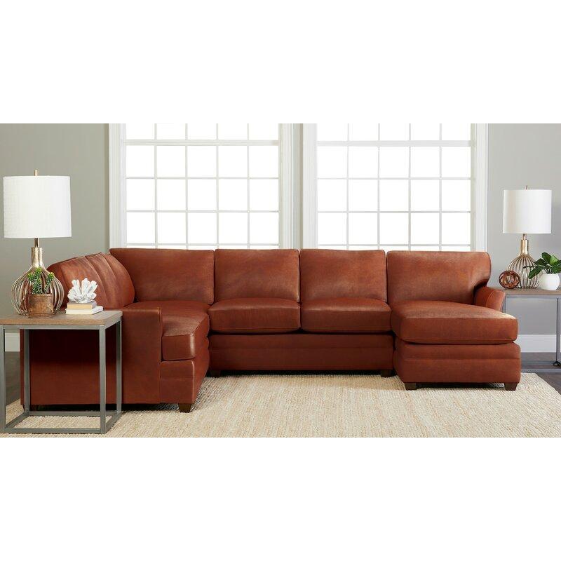 Wayfair Custom Upholstery 125 Genuine Leather Sofa Chaise Sectional Wayfair