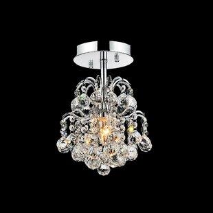 Blossom 1-Light Semi Flush Mount by CWI Lighting