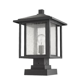 Hungate Outdoor 1-Light LED Pier Mounted Fixture by Bloomsbury Market