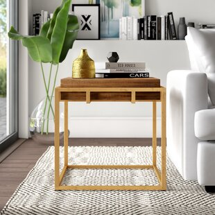 Reviews Mcatee End Table by Mercury Row