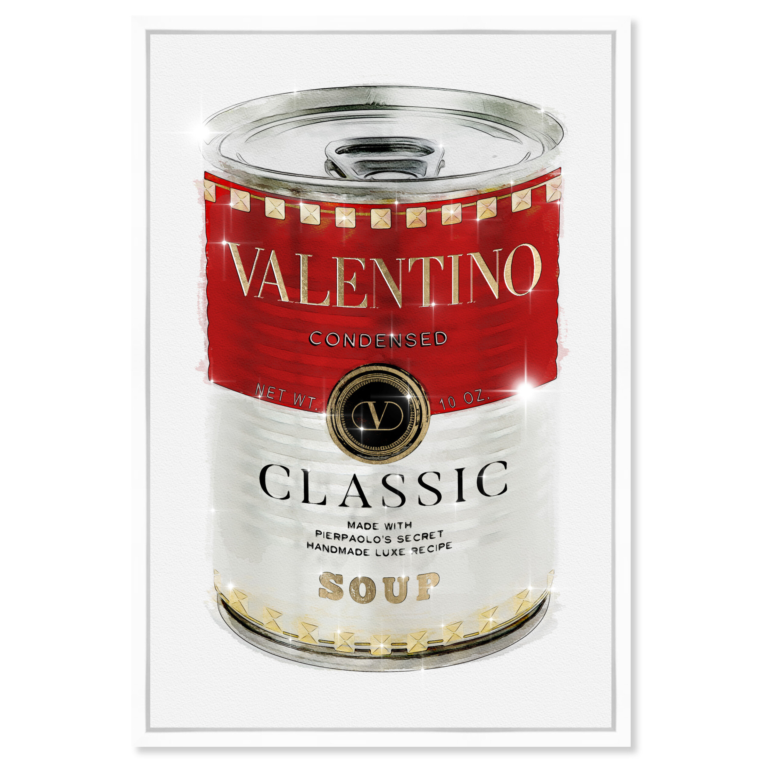 Oliver Gal Fashion And Glam Rockstud Soup Can Floater Frame Graphic Art Print Wayfair