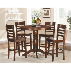Millett 5 Piece Counter Height Dining Set by Red Barrel Studio