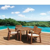 Trotwood International Home Outdoor 5 Piece Dining Set