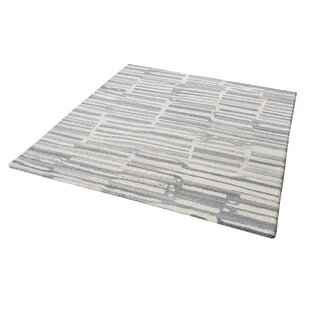 Find Foxborough Hand-Tufted Gray/White Area Rug By Williston Forge