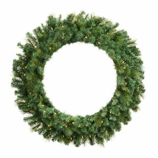 Brussels Mixed Pine 122cm Lighted Christmas Wreath Image