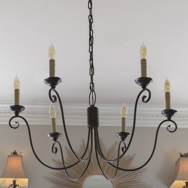 Stupendous Rhoton 6 Light Candle Style Chandelier Interior Design Ideas Tzicisoteloinfo
