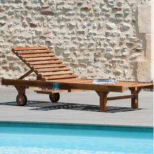 Zada Reclining Sun Lounger With Wheels By Sol 72 Outdoor