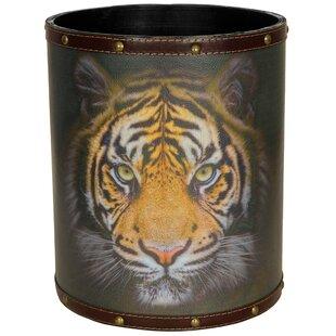 Oriental Furniture Bengal Tiger 2.9 Gallon Waste Basket