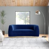 Alexi Velvet Curved 70.5 Round Arm Loveseat by AllModern