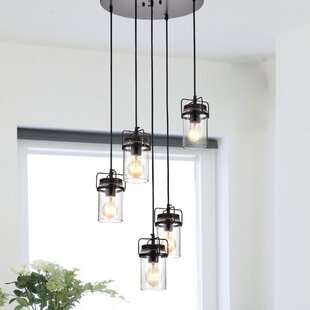 Lytle 5-Light Cluster Pendant by Williston Forge
