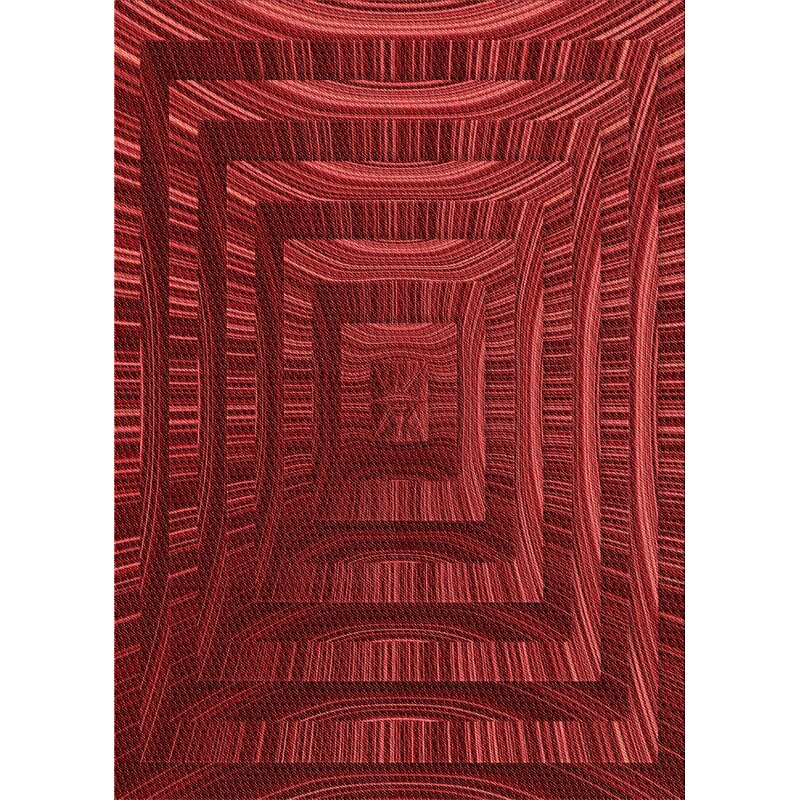 East Urban Home Ruvalcaba Abstract Wool Dark Red Area Rug Wayfair