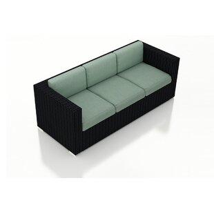 Azariah Patio Sofa With Cushions by Orren Ellis #2