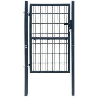 Finke 4' X 7' (1.06m X 2.1m) Metal Fence Gate By Sol 72 Outdoor