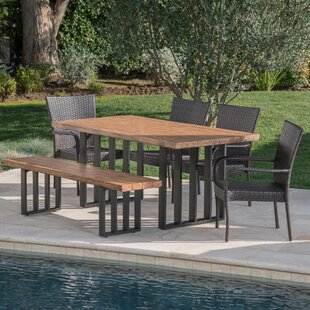 Gracie Oaks 6 Piece Dining Set