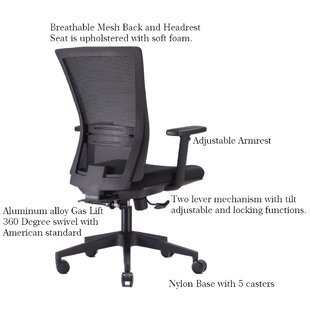Ebern Designs Mehaffey Multi-Function Ergonomic Mesh Executive Chair