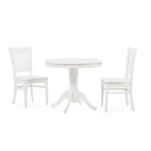 Schade 3 Piece Solid Wood Dining Set