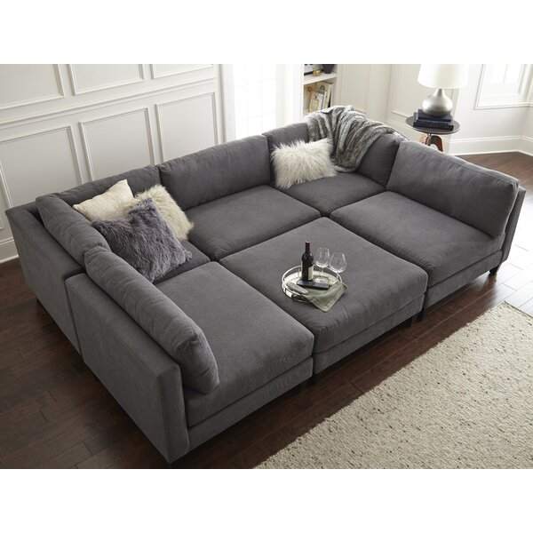 Pit Sectional Couches modular pit sectional sofas | wayfair