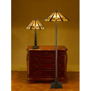 Guide to buy Tiffany Hex Mission 2 Piece Table and Floor Lamp Set By Serena D'Italia