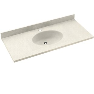 Chesapeake Solid Surface 61 Single Bathroom Vanity Top BySwan
