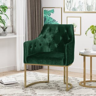Poynor Modern Tufted Glam Accent Armchair