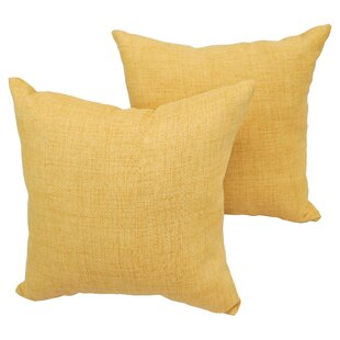 Hawksley Wheat Outdoor Throw Pillow (Set of 2)