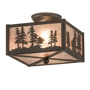 Yosef 2-Light Semi Flush Mount by Loon Peak