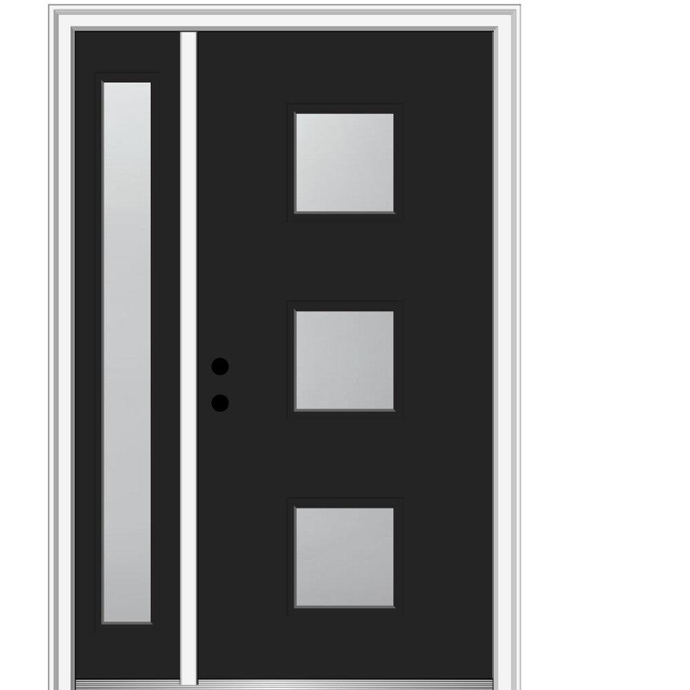Verona Home Design Spotlight Glass Ready To Install Steel Prehung Front Entry Doors Wayfair