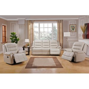 Shantell 3 Piece Leather Living Room Set by ..